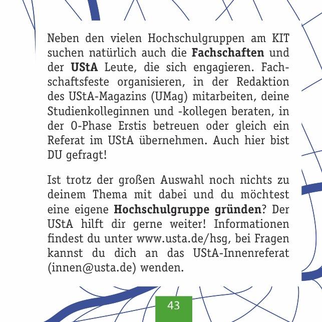 UStA und Fachschaften