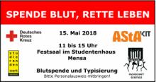 AStA KIT Blutspende Werbebanner Mai 2018